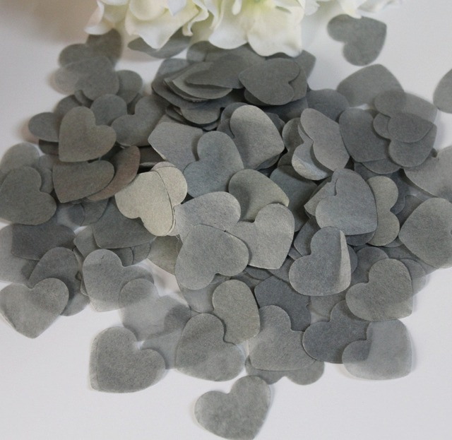 3cm grey silver heart tissue paper guest throwing confetti 3cm grey silver heart tissue paper guest throwing confetti biodegradable 2500 baptism christening wedding decoration kits junglespirit Images