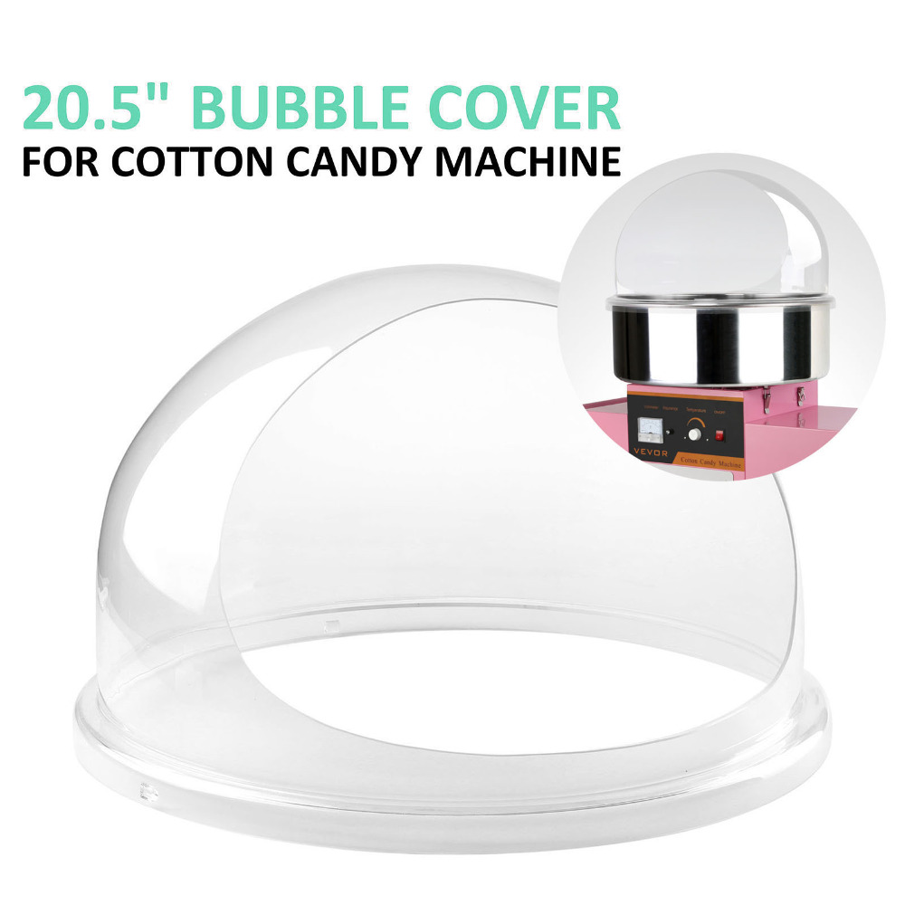 Ztopia Diameter Bowl Dome Bubble Cover 20.5 Inch for Cotton Candy Machine 52cm Dome Shield Cover of Commercial Floss Sugar MakerZtopia Diameter Bowl Dome Bubble Cover 20.5 Inch for Cotton Candy Machine 52cm Dome Shield Cover of Commercial Floss Sugar Maker