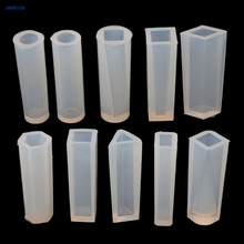 JAVRICK 10 Shapes DIY Liquid Resin Silicone Molds for Making Jewelry Necklace Pendant
