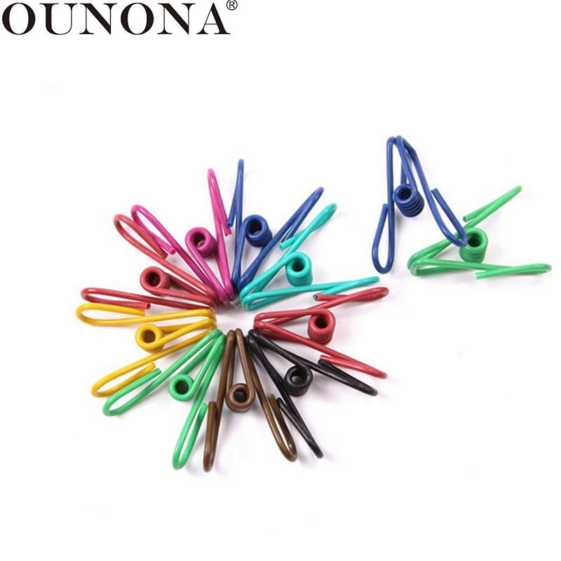 Ounona 50pcs Clothes Peg Metal Food Bag