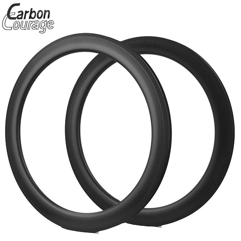 Rims 60mm Carbon Clincher Rim 23mm Width Carbon Rims 700c Clincher Racing Bike Carbon Wheels Rim Tubeless