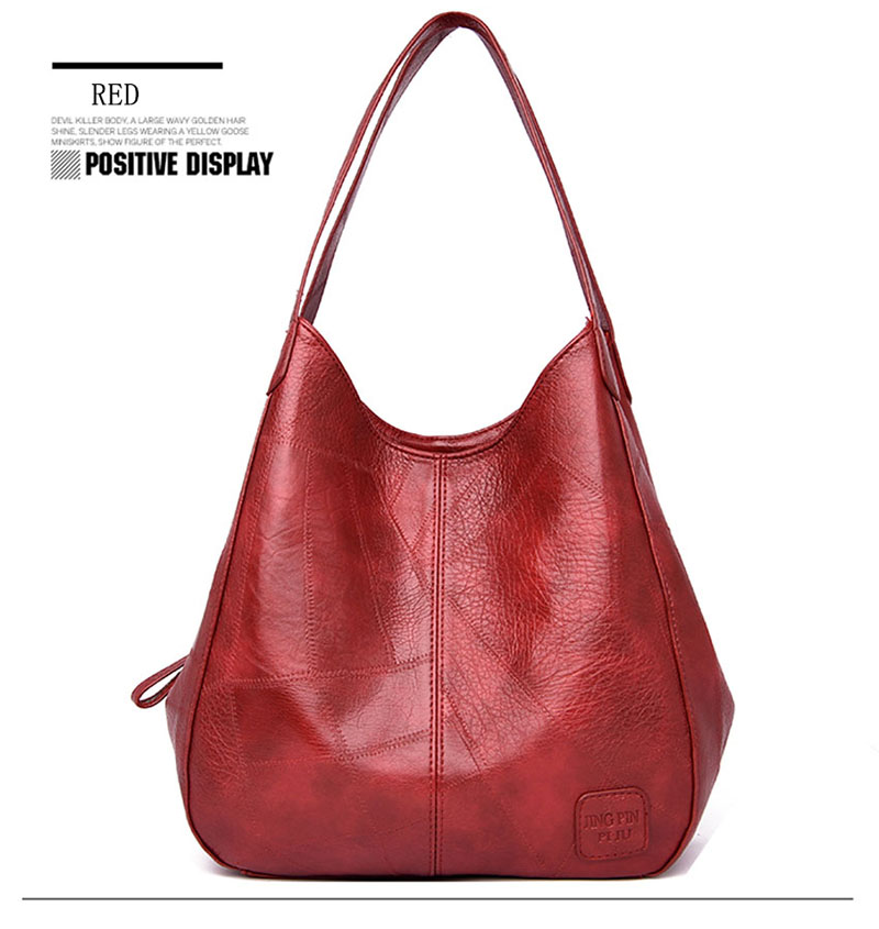 2019 Vintage Women Shoulder Bag Female Causal Totes Bags Large Capacity Luxury Designer High Quality Ladies Handbag Sac Femme 11