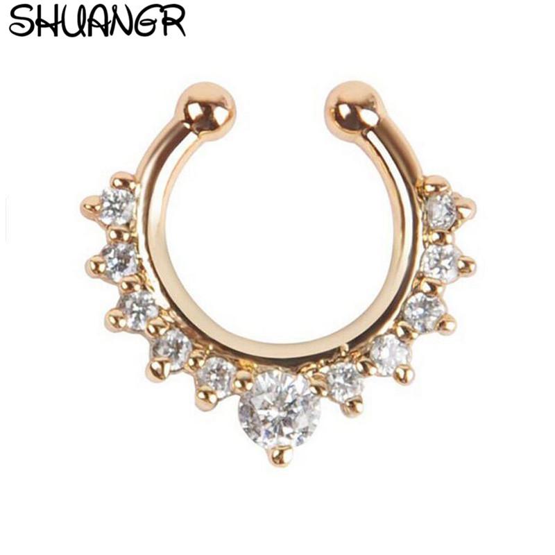 Shuangr Хрустальное модное поддельное украшение перегородки