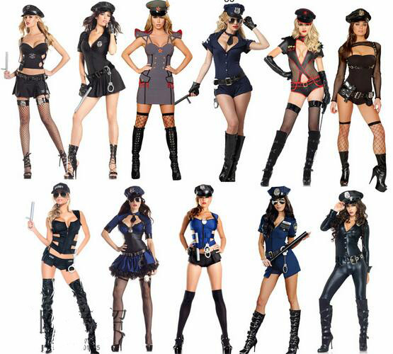 2016 Costumes Women  Police Dress Sop Traffic Cop Dresses Sexy Lingerie Large Size  Cosplay Uniform Halloween Cosplay Costume