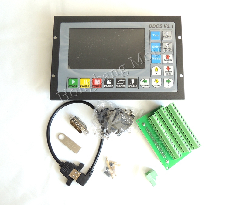 Free Ship Upgraded DDCSV3.1 3/4 Axis 500Khz G-Code Offline Controller Replace Mach3 USB CNC Controller For CNC Drilling Milling