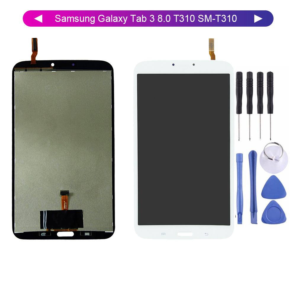 8.0'' LCD For Samsung Galaxy Tab 3 8.0 T310 SM-T310 WIFI LCD Display Digitizer Screen Touch Panel Sensor Assembly Free Tools
