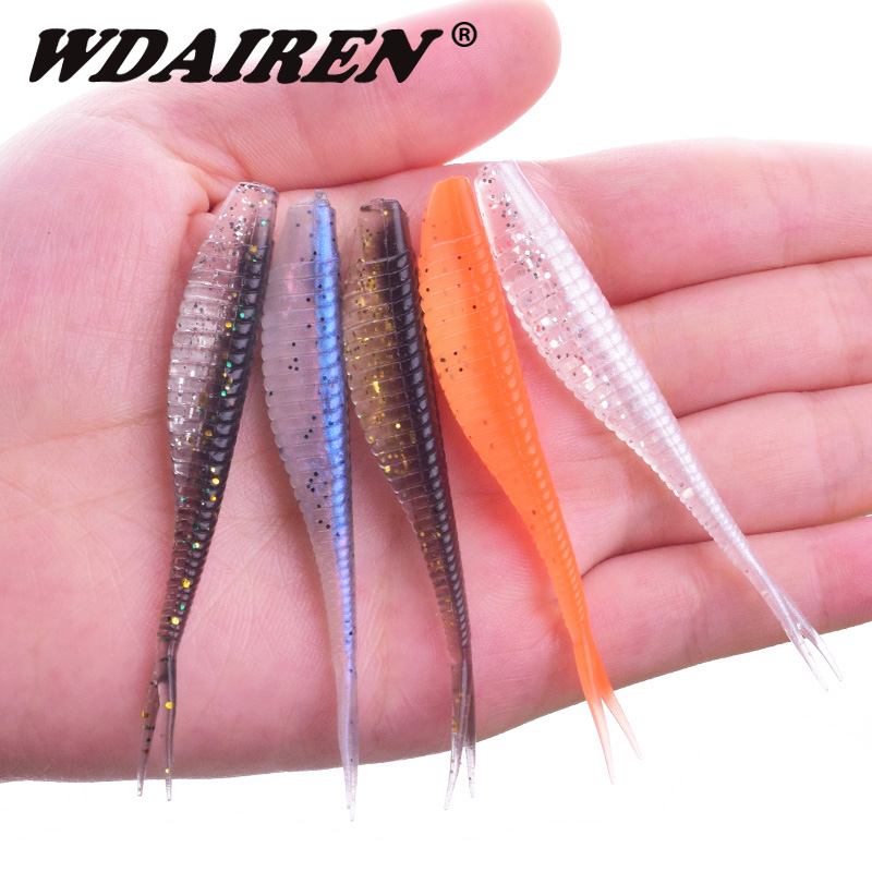 5Pcs/lot Easy Shiner Fishing Lures 70mm 1.8g Artificial Baits Wobblers Soft Lures Shad Carp Silicone Fishing Soft Baits Tackle