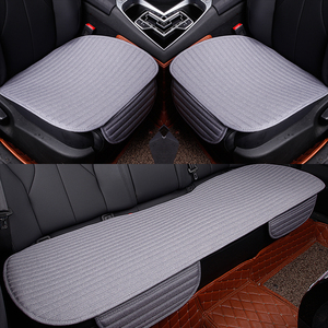 Image 4 - Car Seat Covers Universal car front Rear Seat Cushion Pad for Four Seasons use Auto Accessories Car styling car seat mat