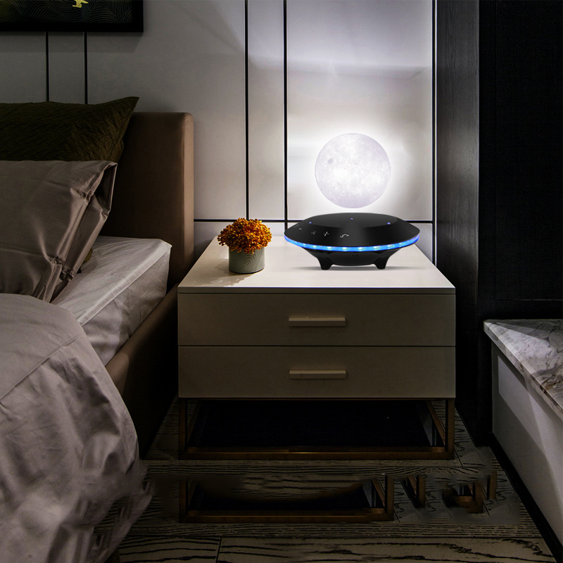 Decoration Crafts 3D Magnetic Levitation Speaker Moon Lamp Home Furnishings Bedroom Bookcase Night Lamp Home Decor Dropshipping