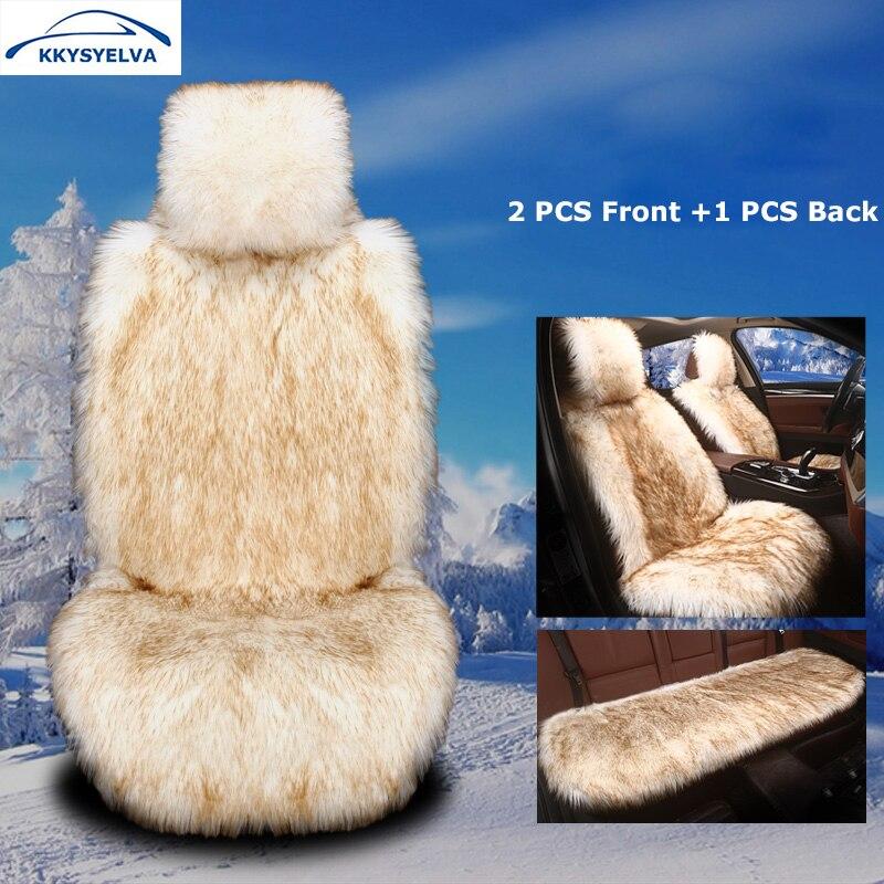 KKYSYELVA Winter font b Car b font Seat Cushion Warm Auto Seat Covers font b Interior