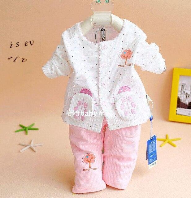 a6ff4f5dba82 New Arrival 2016 Spring Baby Girls Cotton Clothing Set Newborn Bebe ...