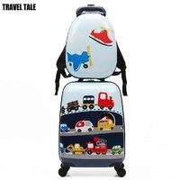 REISE TALE kleine mädchen und kinder roll gepäck set reise koffer tasche mit rucksack