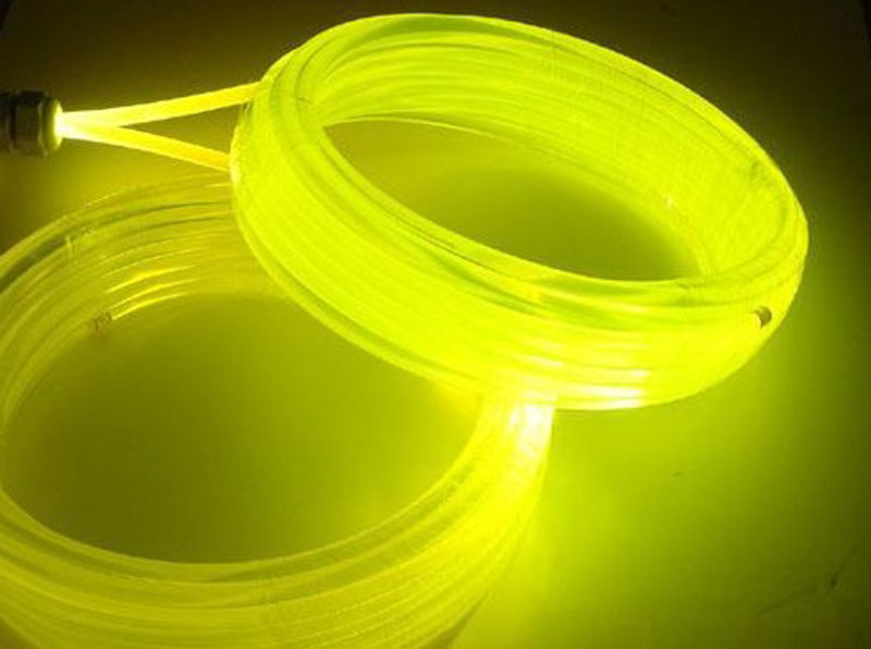 5m lot 10mm Side Glow PMMA Fiber Optic Cable led pool lights used swim spa