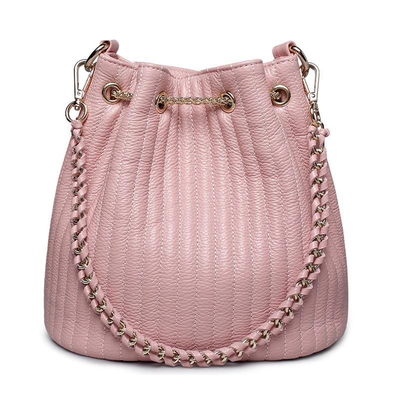Moda Cubo Caliente bolsos de cuero genuino mujeres ZOOLER hombro - Bolsos - foto 4