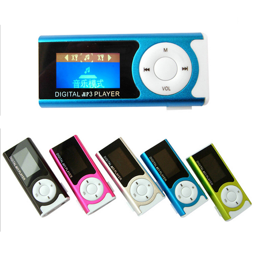 5pcs lot Supper Slim Mini USB Clip LCD Screen MP3 Media Player with Earphone and