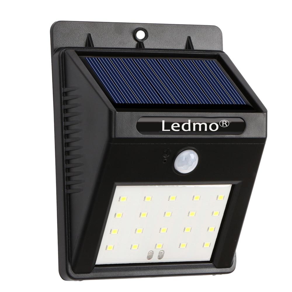 20LED Solar Powered lamps Waterproof solar Sense <font><b>Light</b></font> PIR Motion Sensors Lamp <font><b>Outdoor</b></font> Fence Garden Pathway Street Wall <font><b>Light</b></font>
