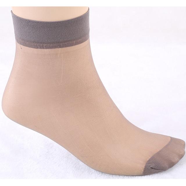 Socks 2017 Fashion Women's Socks Crystal Thin Transparent Thin Silk Socks Women In Summer Sokken Vrouwen