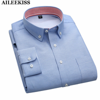 2017 Men Dress Shirts 4XL Plus Size Solid Casual Shirts Spring Autumn Male Long Sleeve Shirts