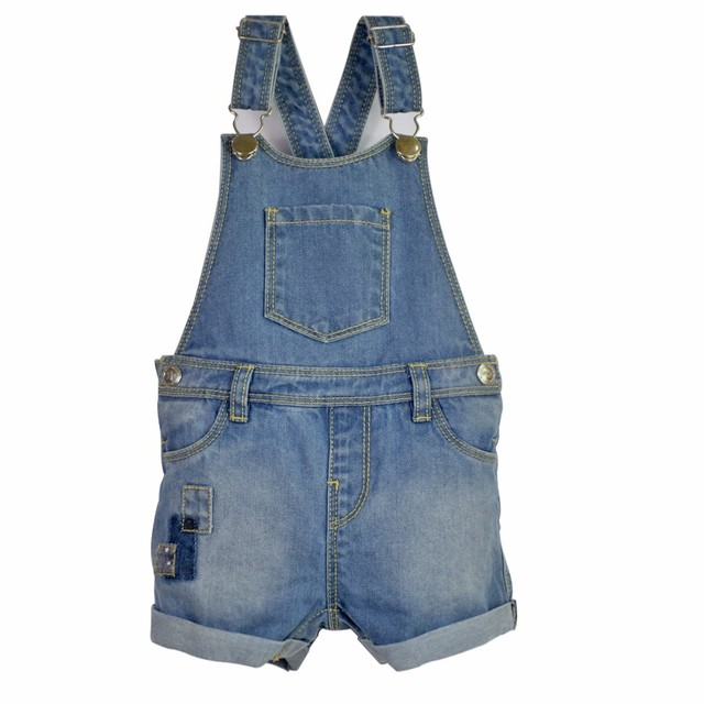 d3d08eae1d7d Infant Denim Jumpsuit Toddler Boy Girl Suspender Jeans Shorts Kid ...