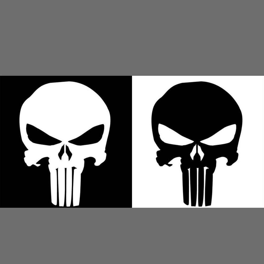 Novel punisher skull car decal cover waterproof sticker outdoor window reflective sheeting 3d windshield decal rear in car stickers from automobiles