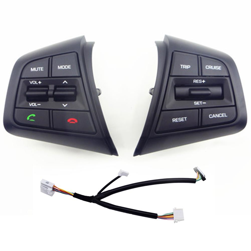 Multimedia For Hyundai Ix25 Creta 1.6L 2.0L Steering Wheel Cruise Control Buttons Remote Control Volume Button for hyundai ix25 2 0l steering wheel control supervision panel button without clock spring creta english pattern version heating