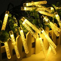 Wenhsin Solar LED Icicle Light String Outdoor Waterproof Christmas Holiday Decoration Light String