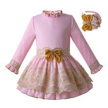 39f40021efe8bd Pettigirl Vintage Jurk Voor Meisjes Roze Tiener Prinses Verjaardag Jurk  Kant Meisjes Party Dress Kids Kleding G-DMGD110-C105