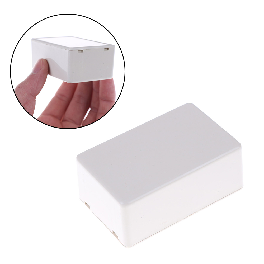 Plastic Waterproof Cover Project Electronic Instrument Case Enclosure Box 70 X 45 X 30mm White