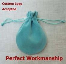Оптовая W8 х H10cm Синие Бархатные мешочки drawstring сумка бархатный мешок упаковки много Бесплатная Доставка