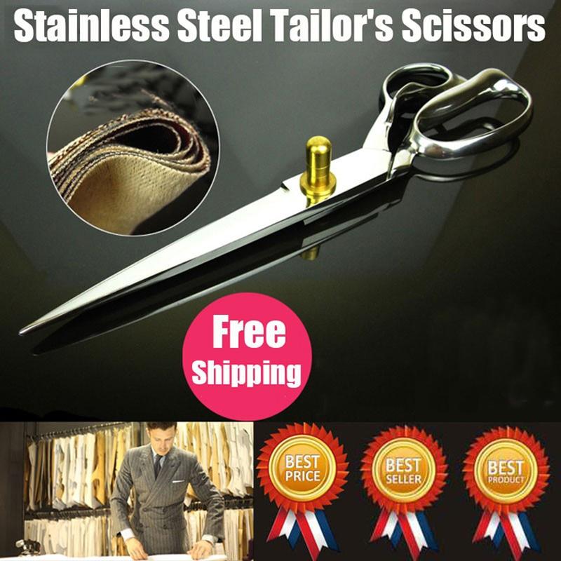 De înaltă calitate de 12 inchi de oțel inoxidabil croitorie foarfece de cusut profesionale personalizate foarfece foarfece de cusut foarfece de transport gratuit