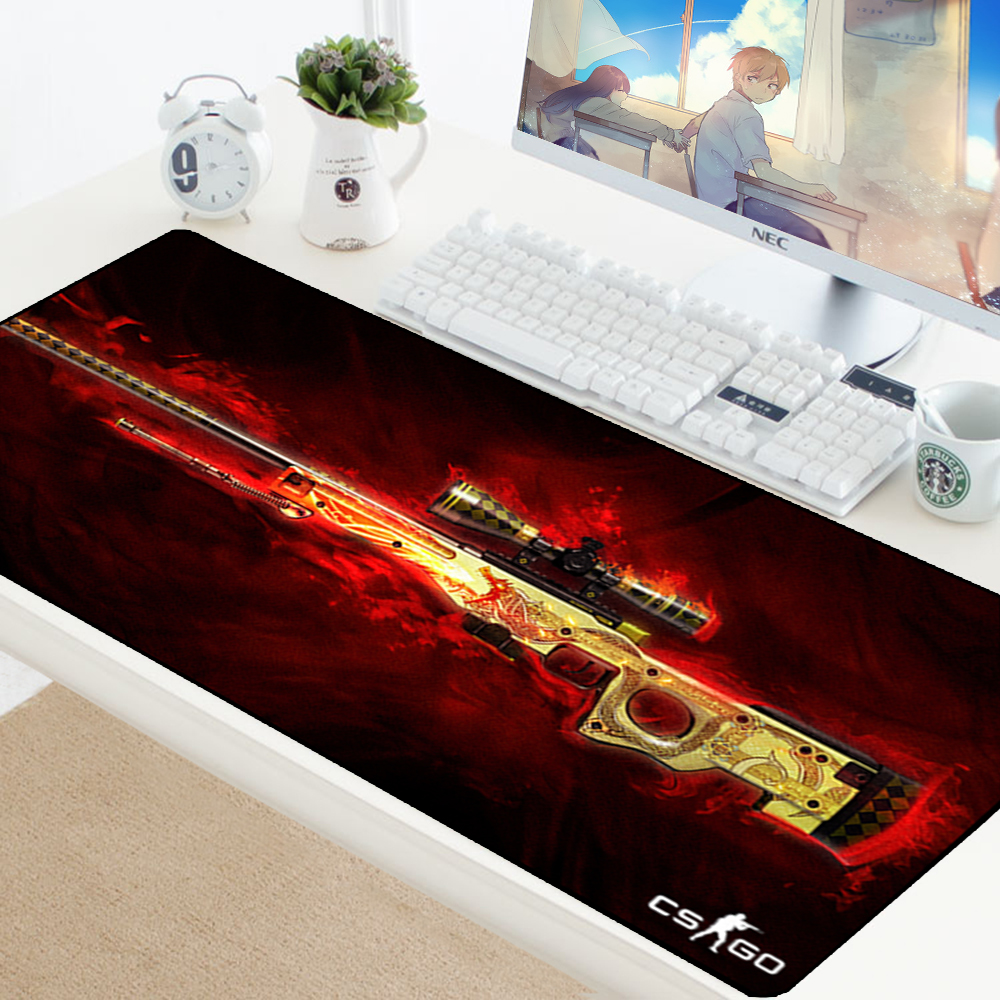 Large Game Mouse Pad Mat Laptop Gaming Mousepad Anti-slip Natural Rubber Grande Gamer Mouse Pad Fashion Office Desk Computer Pad