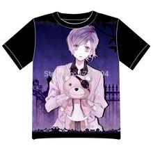 Envío Libre DIABOLIK AMANTE de la Camiseta de Las Mujeres de Los Hombres Cosplay Del Anime manga Camiseta Negro Camiseta De Malla 002