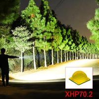 high lumens xhp70.2 most powerful led flashlight Zoom led torch flashlight 26650 xhp50 lantern 18650 usb hand light hunting lamp