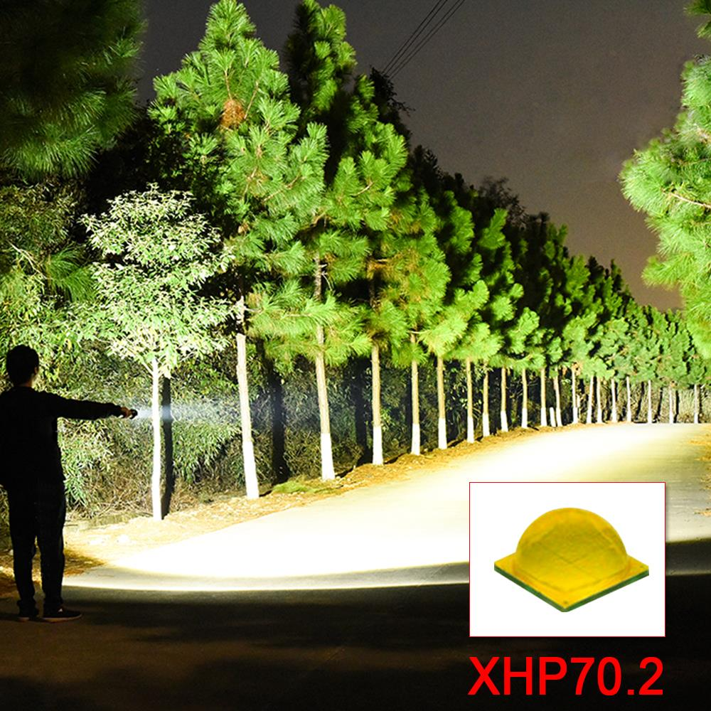High Lumens Xhp70.2 Most Powerful Led Flashlight Zoom Led Torch Flashlight 26650 Xhp50 Lantern 18650 Usb Hand Light Hunting Lamp