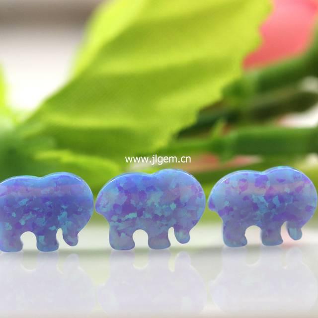 e5e0b1adb6ad placeholder 1PC Free Shipping Elephant Opal Pendant Ivory Ella Elephant  Fire White Light Blue Green
