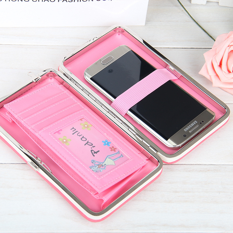 KEFO Long Women Wallets Female Clutch Purse Universal Case Phone Pocket For Samsung Galaxy S9 Plus S3 S4 S5 S6 S7 Edge S8 Plus