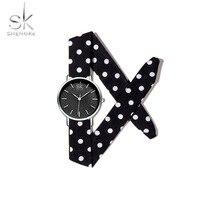 Sk Watch Luxury Top Brand Wrist Watch Canvas Silver Simple Ultra Thin Clock for Woman Waterproof Quartz Reloj Mujer 2019 New