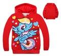 Kids Hoodie Long Sleeve Hooded Jumper Cartoon Hoodies Outerwear Kids Clothing 2 colors red/blue 5p/l