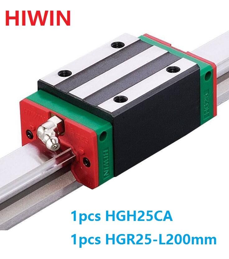 1pcs 100% original Hiwin linear rail guide HGR25 -L 200mm + 1pcs HGH25CA linear narrow block for cnc original 1pcs ssg45c40