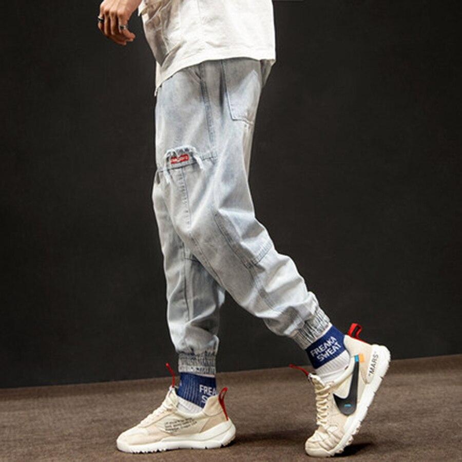 Lâche Cargo Hommes Streetwear Hip Jeans Salopettes Casual Hop Denim Joggeurs Vintage Baggy Japonais Blue 50na72 Pantalon 0rqw0U