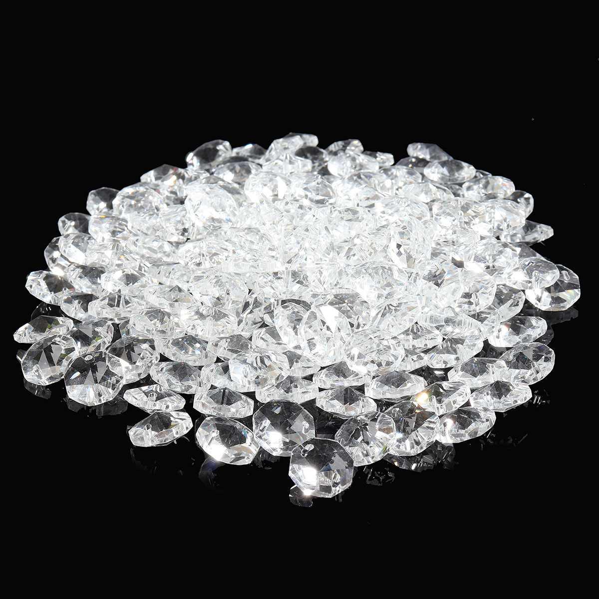 200 шт прозрачный 14 мм хрустальный стеклянный подвесной светильник шар Призма граненый стеклянный подсвечник хрустальные детали подвесной светильник шар для домашнего декора