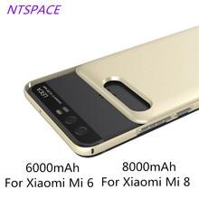 6000/8000mAh Power Bank Case For Xiaomi Mi 6 Portable Battery Charger Case For Xiaomi Mi 8 Backup Battery Power Charger Case аксессуар чехол xiaomi silicone case for power bank 2 10000mah blue