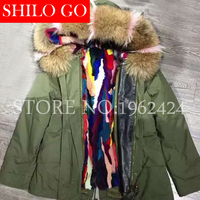 Plus Size 2016 Women Warm Winter Army Green Black Jacket Coats Thick Parkas Colorful Mink Raccoon