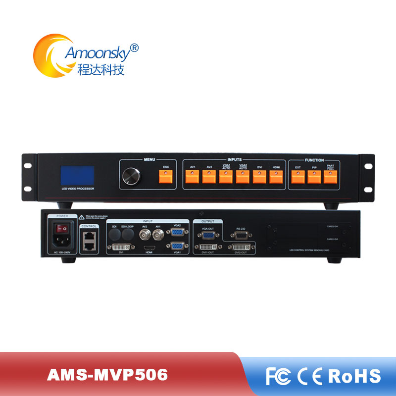 LED Video Processor Scaler Support 2 Sending Cards Nova MSD300 Linsn TS802D LED Video Wall Controller