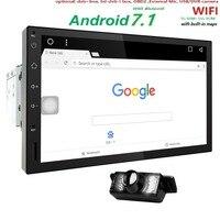 Quad Core Pure Android 7.1 Auto Radio Car NO DVD Player Car PC Tablet Double 2din 7'' GPS Navigation Head Unit Bluetooth SWC TV