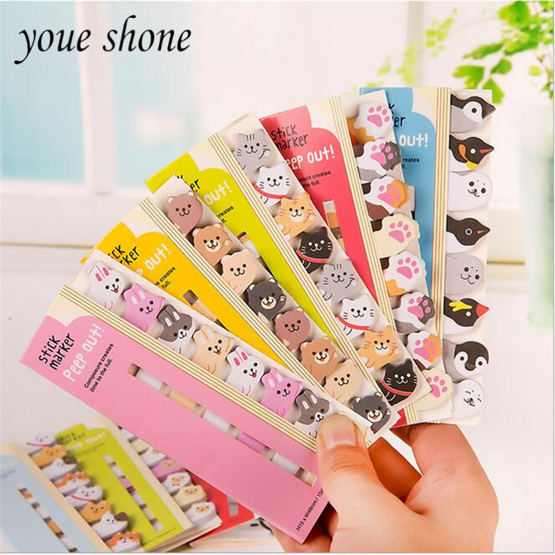 1pieces=120sheetCute Korea stationery Cat sticker animal bookmarks Sticky note N times Sticky Notes Message posted it 12.5*5Cm