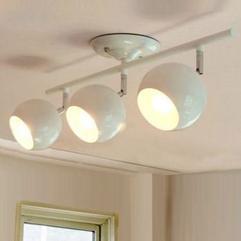 ยุโรป3หัวหมุนสีขาว60เซนติเมตรE27ไฟเพดานห้องนอนรับประทานอาหารบาร์ศึกษาของขวัญจัดส่งฟรีFG800