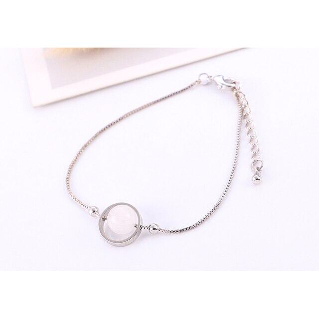Bracelet Argent Et Ambre Femme