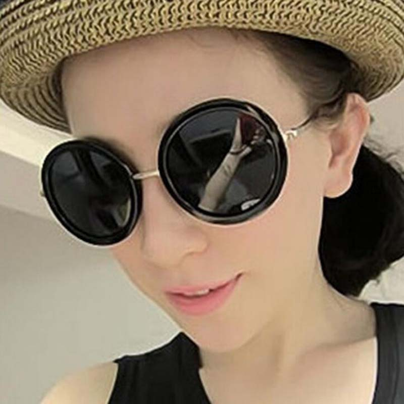 Vintage Round Glasses Multi-coloured Women Sunglasses Brand Eyewear Sun Protection Lovely Round Frame Sunglasses