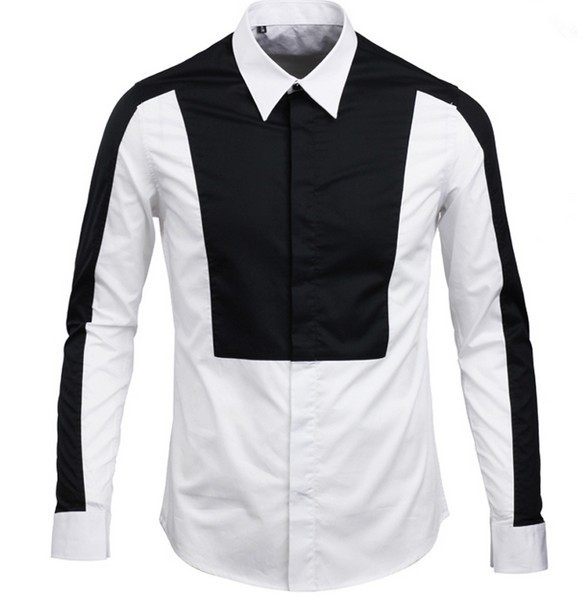 Buy size xl men quality white black color Buy white dress shirt